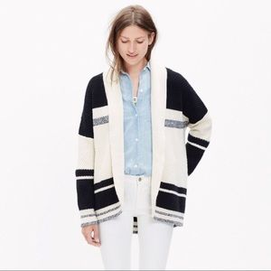 Madewell Striped Oversized Cocoon Cardigan